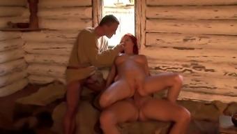 Breast feeding redhead Suzan Wenera assfucked again