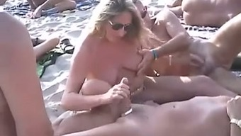 Simply a charming nudist beach compilation of horny spouses
