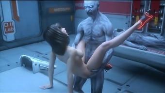3D Fan Undead creatures Jizz on Females!