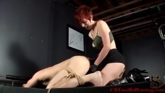 Kinky redheaded with the use of major hot boobs pegging a stranger
