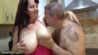 Extreme great genuine mammary bbw MILF adores deepthroat and provides a warm footjob