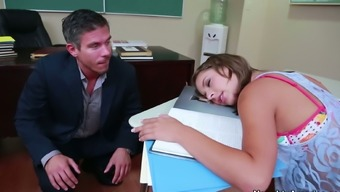 Book warmer Presley Hart gives a head to her school tutor