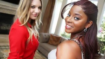 Interracial Lesbian Love-making By using Kenna James & Jasmine Webb