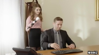 Pervy Boss Fucks Sexy Office Assistant Alice March