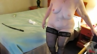 Auntie File suit takes out anal passage pieces after bdsm sitting