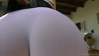 Full-figured dirty-minded ginger MILF in this type of fitness underwear shows off her rising cost of living butt