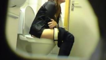 Chubby amateur teen toilet pussy stupid ass secret spy cam voyeur