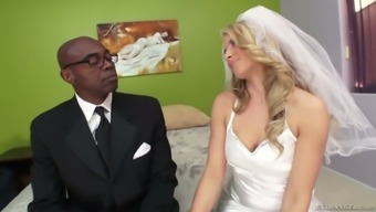 Naughty future bride Anikka Albrite chop with the best man located on the marriage event