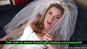 Kayla Paige gorgeous busty bride