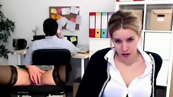 Amateur Masturbatory stimulation Voluble Orgasm In government departments Office