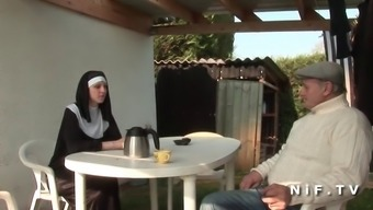 French language nun anal fucked in threesome