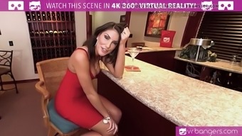 VR PORN-AUGUST AMES Provide a WORLD CLASS BLOWJOB Along at the Club
