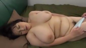 Japanese Senior along with big titties