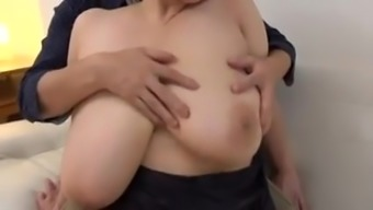 Japanese Senior along with big titties