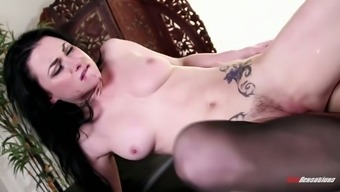 Appealing hottie in lacy lingerie Veruca James gonna get her lubed pussy pricked