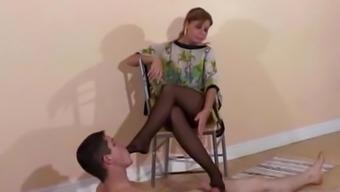 charlotte ballbusting both feet femdom first
