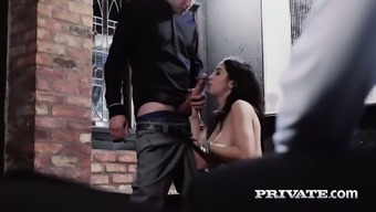 Splendidly fascinating gal Julia onze Lucia is merely so attractive kissing a lift