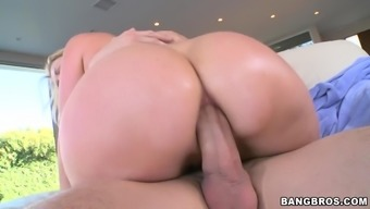 Blonde bitch gets her restricted ass fucked