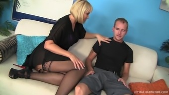 Really stocked hooker in stockings get fucked inside a steamy doggystyle become