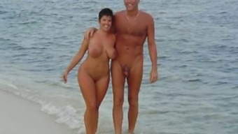 Beautiful amateur exhibitionist couples compilation on the beach
