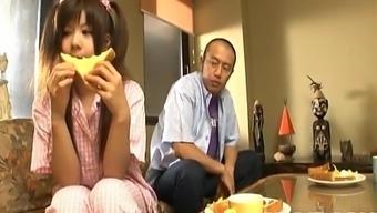 Shino Nakamura gets cum on fucked brushed chip from sucked prick