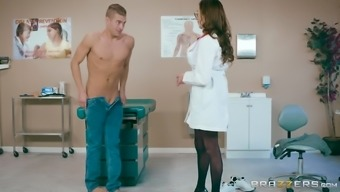 Ariella Ferrera is a very large breasted doctor who treasures driving a lift