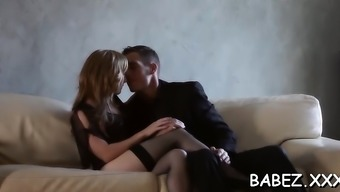 Impious bf stimulates into exceptionally ripe vaginal canal doggystyle