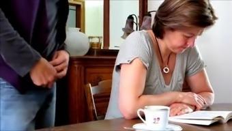 Creme for her espresso