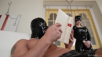 Katrin Dragon and Lucy Mind take part in warm BDSM session with a person who serves