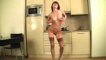 Ivana having tiny striptease
