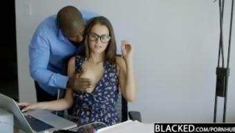 BLACKED Cheating GF Allie Haze Loves Interracial Anal Sex