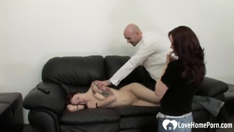 Couple invites their friend into a wild threesome
