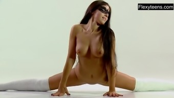 3(three) naked gymnasts complete rips and more..