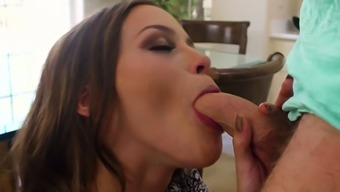 Waiting and standing on knees lovely Karter Foxx gets taken with the use of kissing dick
