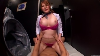 Fucking a big tits Japanese people lingerie bones and cumming on the tits
