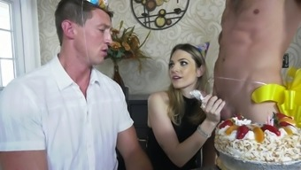 Slutty seductress Dahlia Surroundings is making love along with a pair of bisexual gentlemen