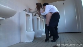 Japanese milf effect and gets fucked within the general public bathroom