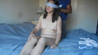 Chinese wife involved and set to be fucked by using huge dildo