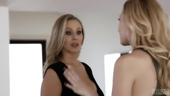 Julia Ann's amazing body makes a fellow's cock tough