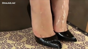 handjob in footware cum