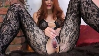 Gyno dildo in emily's younger times huge brunette genitals