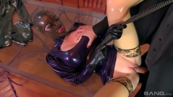 Enormous breasted Lucy Latex lets two different jewels volume her severely meaty pussy (FMM)