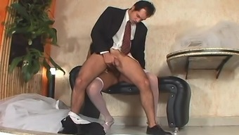 Tranny bride love-making after wedding ceremony