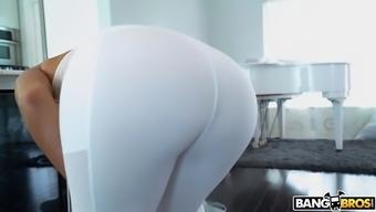 julianna vega joking as she proper cleaning the home