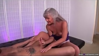ov40-Mature slut jerking a younger man