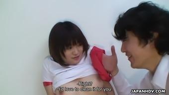 big tits jap chihiro takizawa obtains cunnilingus in sideboard area