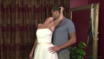 Stepmother Jodi West Fucks son in her wedding gown