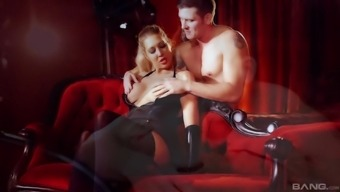 Cute Lexi Lowe gets her pussy fucked despite the fact that her boobs leap