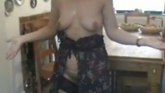 Getting laid with my fairly MILF wifey in kitchenette - true homemade