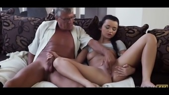 Old guy fuck beautifle girl